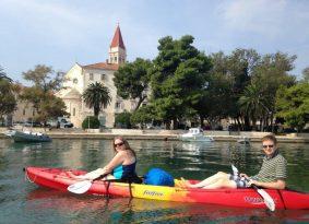 Sea kayaking around Trogir with Kastela Excursions