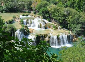 Krka Waterfalls from Kastela