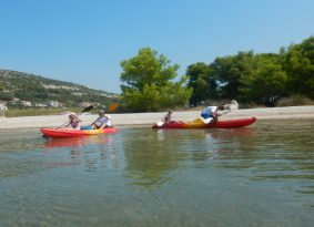 Sea kayaking around Trogir with Kastela Excursions