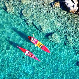 Meereskajak Blaue Lagune