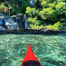 Meereskajak in der Umgebung von Trogir