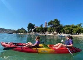 Trogir-kayaking-from-Kastela