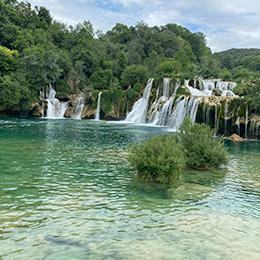 Private tour to Krka Waterfalls from Kastela